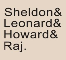 Sheldon & Leonard & Howard and Raj by jayebz