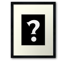 Question Mark - style 7 Framed Print