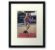 Skate Shred Framed Print