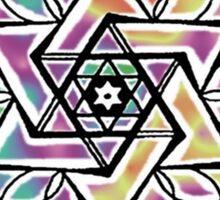 Mandala Star of David Sticker