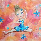 Beautiful Ballerina for Lucy Acrylic Painting by Kristy Spring-Brown