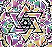 Mandala Star of David by Micaela Pazuello