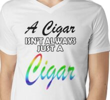 Homosexual Cigars Mens V-Neck T-Shirt