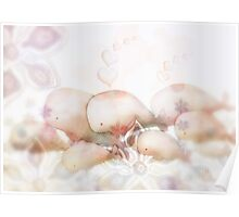 Whale Migration in a Sea of Flowers Poster