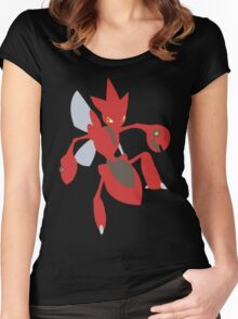 Scizor - lineless Women's Fitted Scoop T-Shirt