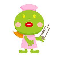 Frog blonde nurse and syringe by ankomando