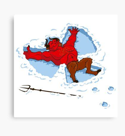 """I Wish I Were"" Snow Devil Canvas Print"