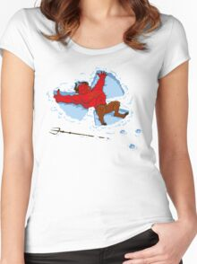 """""""I Wish I Were"""" Snow Devil Women's Fitted Scoop T-Shirt"""