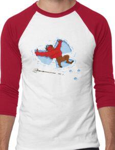 """""""I Wish I Were"""" Snow Devil Men's Baseball ¾ T-Shirt"""