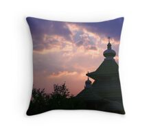 dome mosques in silhouette  Throw Pillow