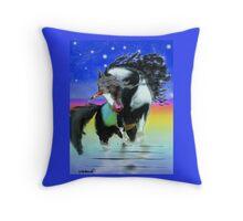 Paint Unicorn Throw Pillow