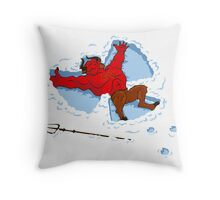 """I Wish I Were"" Snow Devil Throw Pillow"