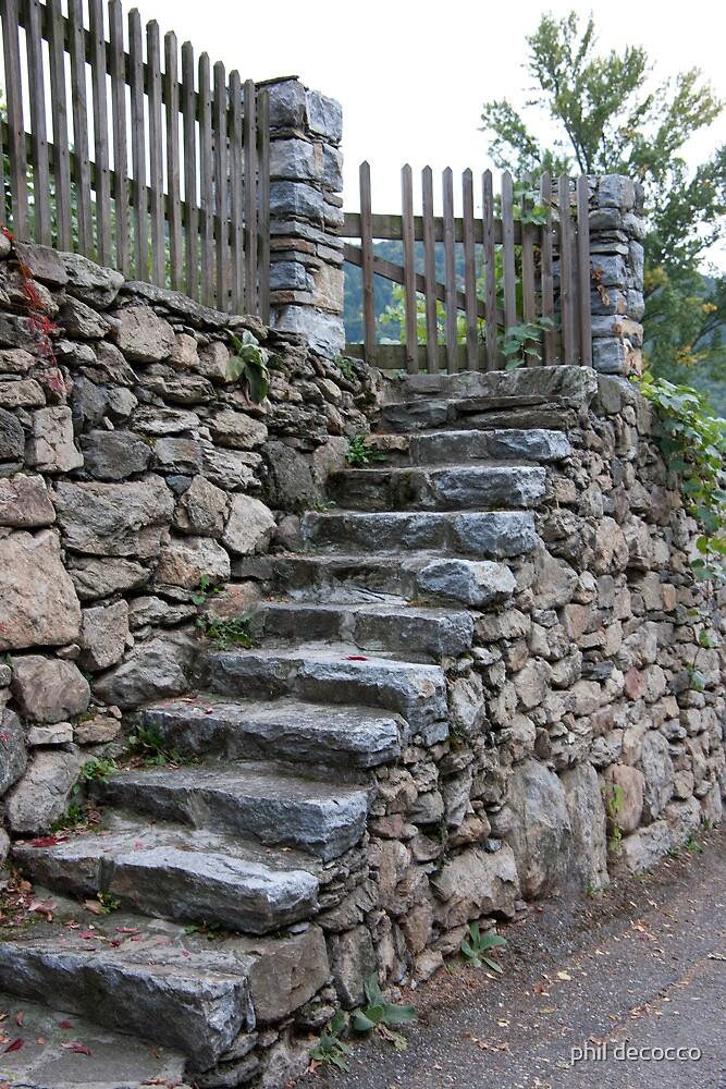 Stone Slab Steps by phil decocco