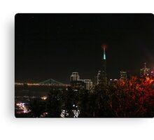 December San Francisco Night Canvas Print