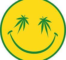 Marijuana Smiley Face by Aldahamart