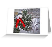 Christmas Fence Greeting Card