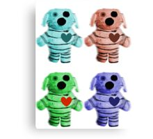 Colorful Zombie Dogs Canvas Print