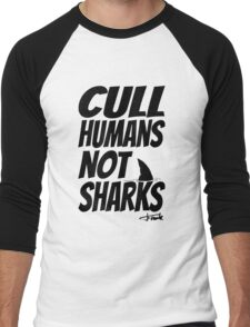 Cull Humans Not Sharks - BLACK T-Shirt