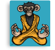 Zen Monkey Canvas Print