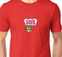 Bubble Bobble Inspired Bob GAME OVER design Unisex T-Shirt