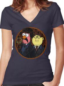 221b Beaker Street Women's Fitted V-Neck T-Shirt