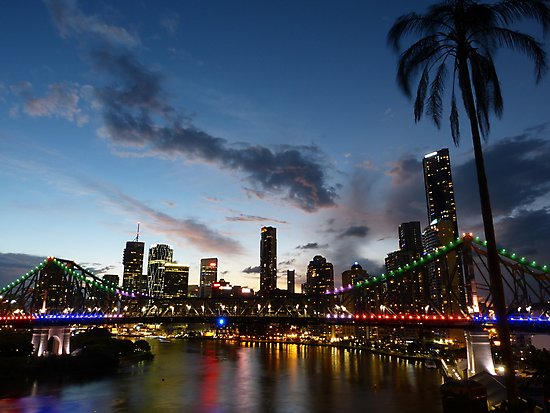 Dusk in Brisbane by PhotosByG