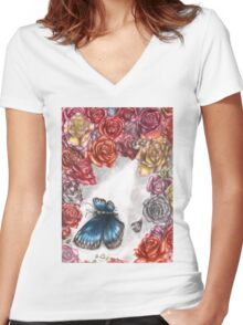 Death of the Beauty Women's Fitted V-Neck T-Shirt