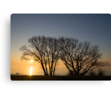 Peaceful Blues and Golds  Canvas Print