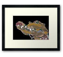 collage crocodile Framed Print