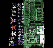 Commodore 64 Inside with Characters by bellingk