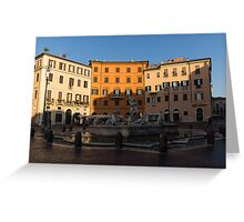 Rome's Fabulous Fountains - Fountain of Neptune, Piazza Navona, Rome, Italy Greeting Card