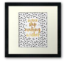 Making Wishes Quote Framed Print