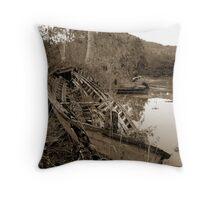 Storm damage Throw Pillow