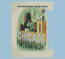 """Chicago - American Airlines"" - Retro Poster by whiteflash"