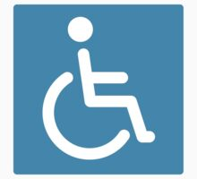 Disabled symbol stickers, square with rounded corners by Mhea