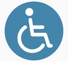 Disabled symbol, round stickers by Mhea