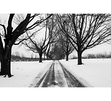 A Long Cold Road Photographic Print