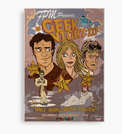 Geek Night: III Once More, With Fillion Canvas Print