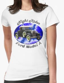 Ford Model A Night Rider Womens Fitted T-Shirt