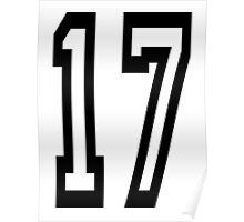 17, TEAM SPORTS, NUMBER 17, SEVENTEEN, SEVENTEENTH, ONE, SEVEN, Competition,  Poster