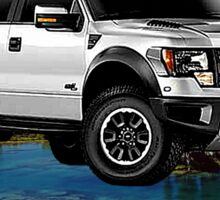 Ford F-150 Truck Anytime Baby Sticker