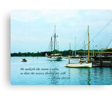 Psalm 107:29 He maketh the storm a calm Canvas Print
