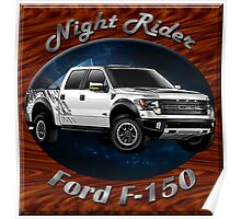 Ford F-150 Truck Night Rider Poster