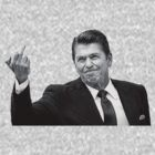 Ronald Reagan Flipping The Bird  by LibertyManiacs