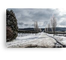 The Road to Christmas Canvas Print