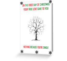 On the First Day of Christmas Greeting Card
