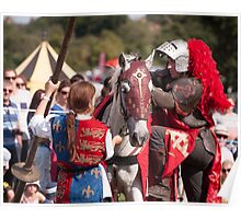 Preparing for jousting Poster