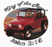 Jeep Wrangler King Of The Road Kids Tee