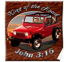 Jeep Wrangler King Of The Road Poster