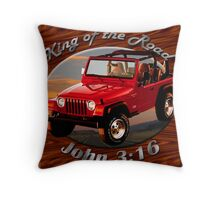 Jeep Wrangler King Of The Road Throw Pillow